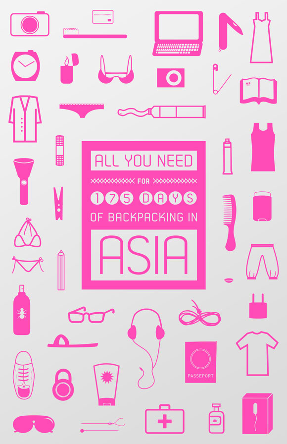 Free posters - Backpacking in Asia - Full poster