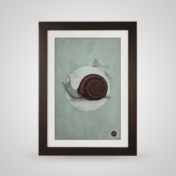 Free posters - Escargö - In frame