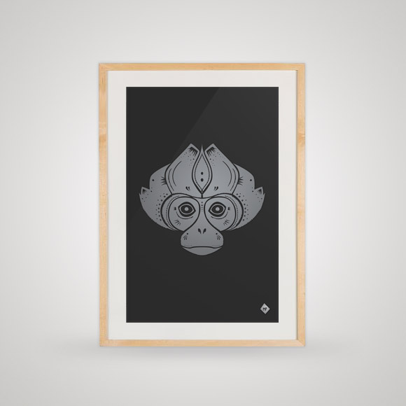 Free posters - Indonesian monkey - In frame