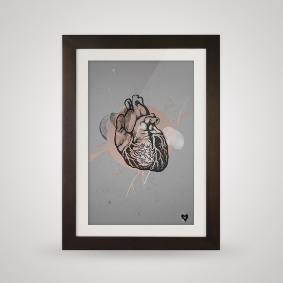 Free posters - Oh my heart - In frame