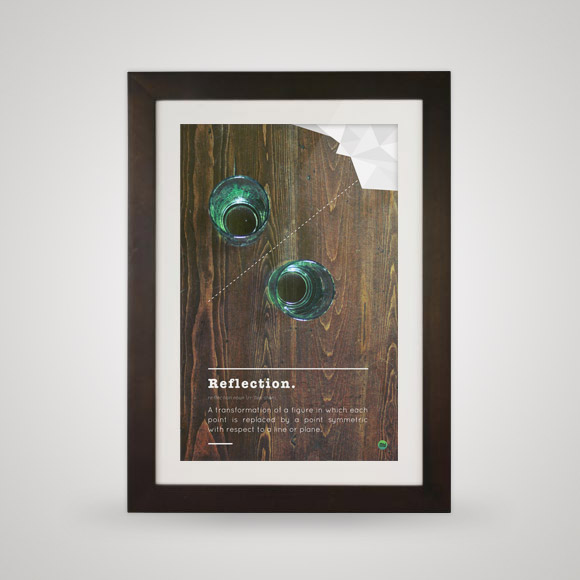 Free posters - Reflection  - In frame