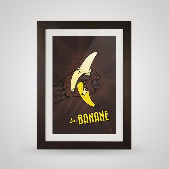 Free posters - Banana propaganda - In frame