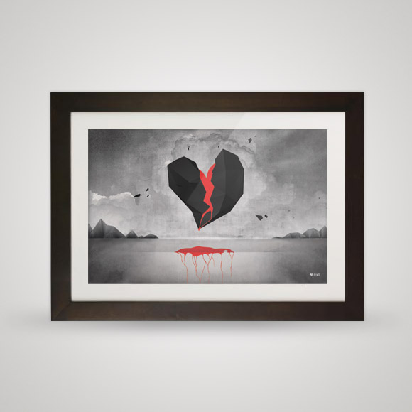 Free posters - Open heart - In frame