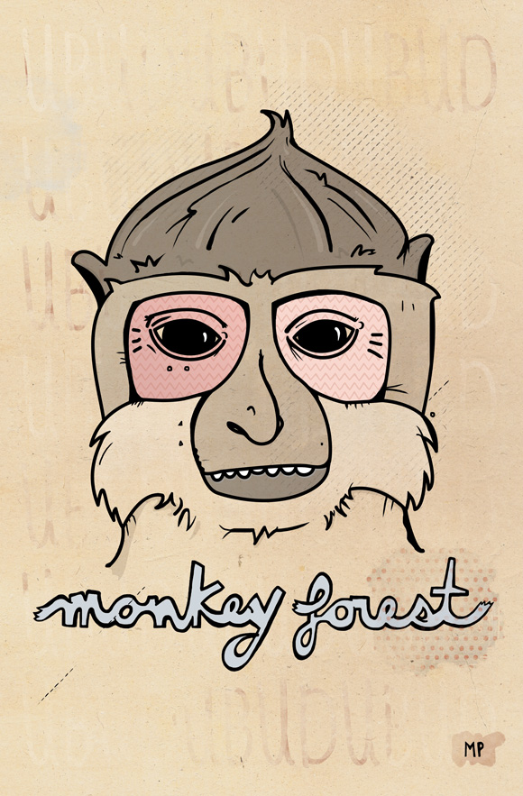 Open Art Project – Free printable posters » Ubud Monkey Forest
