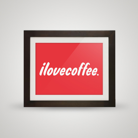 Free posters - I love [illy] coffee - In frame