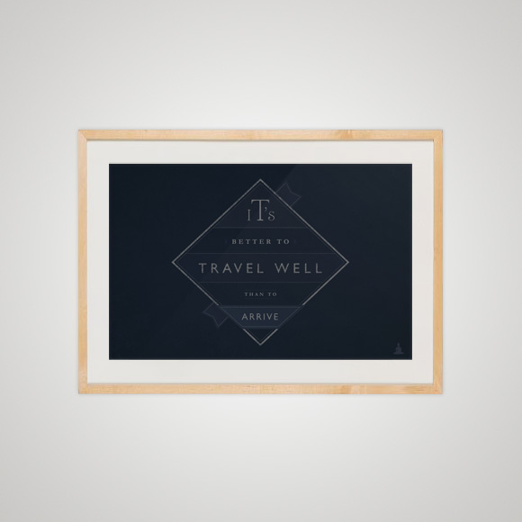 Free posters - Travel well - In frame