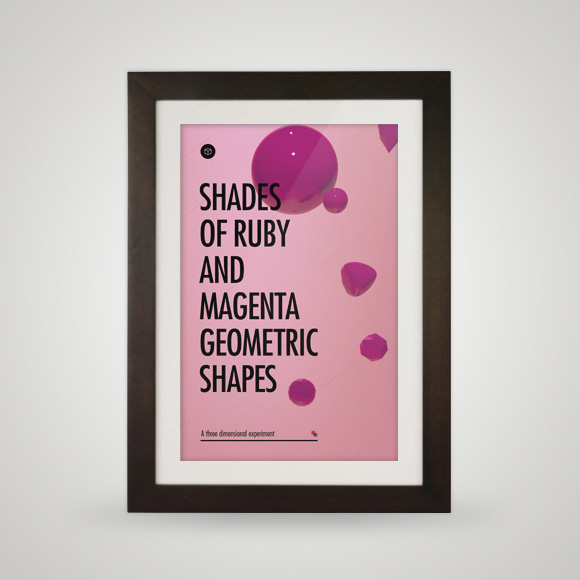 Free poster - Shades of pink - Framed