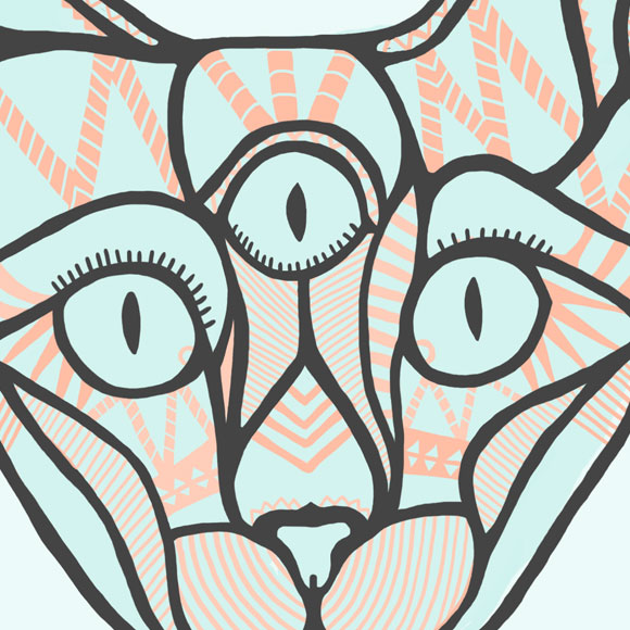Free printable poster - A cat poster - Close up 1