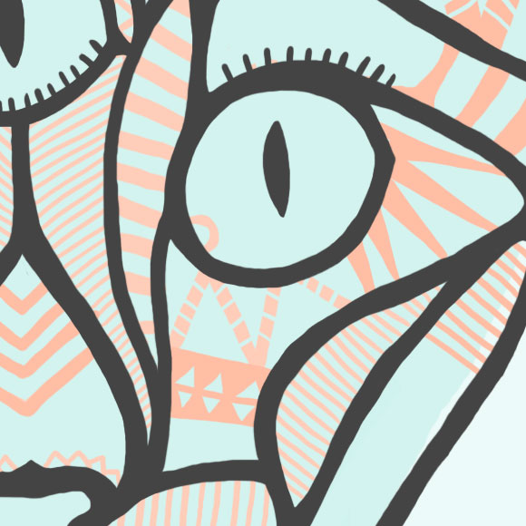 Free printable poster - A cat poster - Close up 3