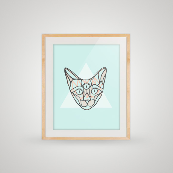 Free poster - A cat poster - In frame