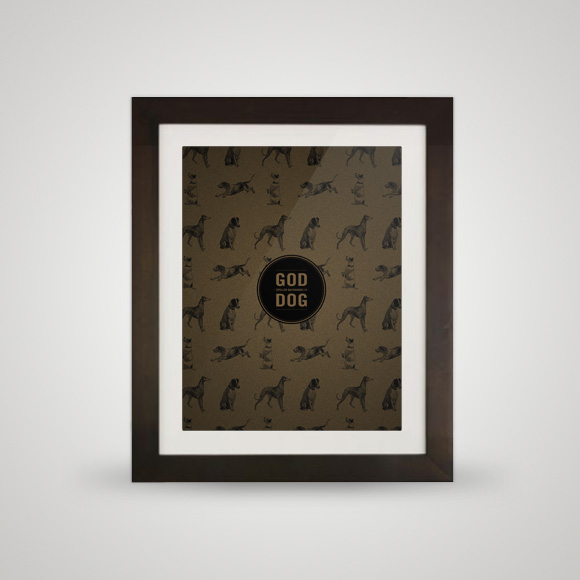 Free printable poster - God/Dog - In frame