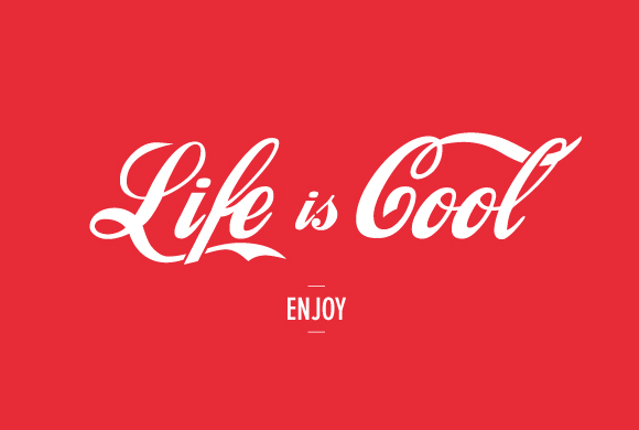 Free printable poster - Life is cool - Full poster