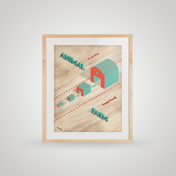 Free poster - animal farm framed
