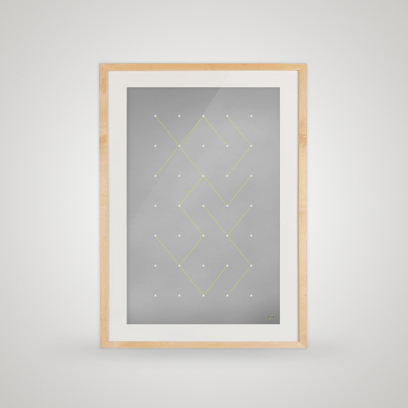 Free poster - COnnecting the dots - Framed