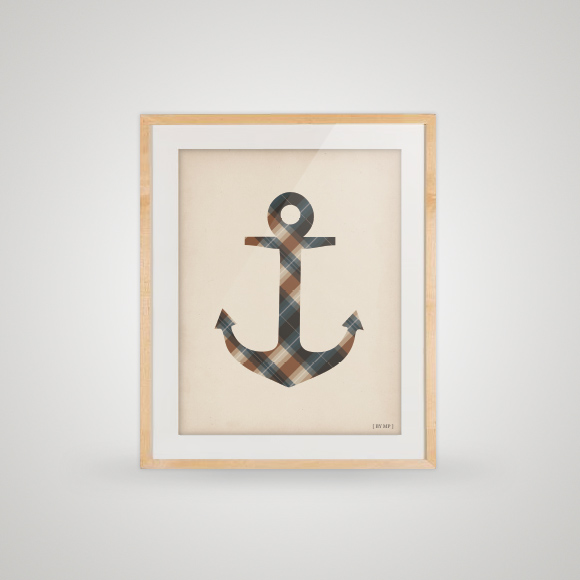 Free poster - that checked anchor - framed