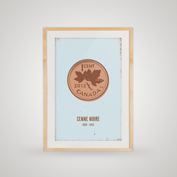 Free poster - Cenne Noire - Framed