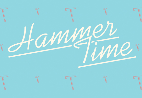 Hammer Time - free printable poster - close up 2
