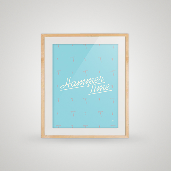 Hammer Time - free printable poster - framed