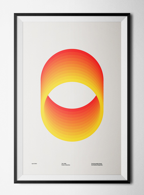 Free printable poster - The 1960 Collection - Circles - Framed