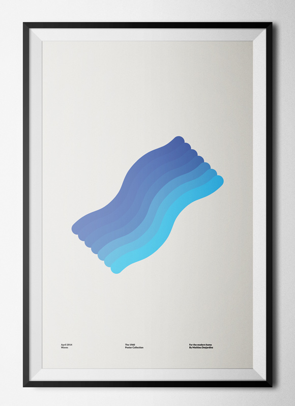 Free printable poster - The 1960 Collection - Waves - Framed