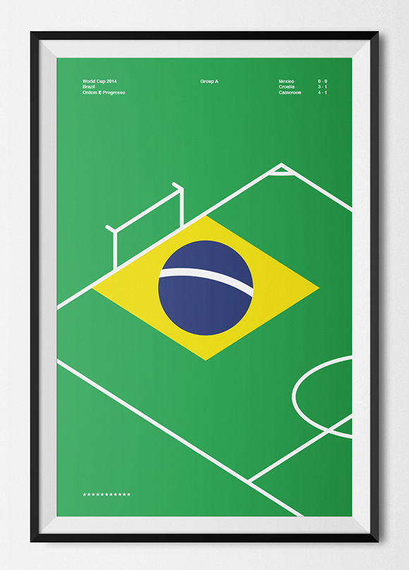 Free printable poster - Brazil World Cup 2014 - Framed
