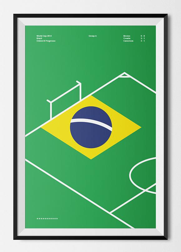 Free printable poster - Brazil World Cup 2014 - Framed