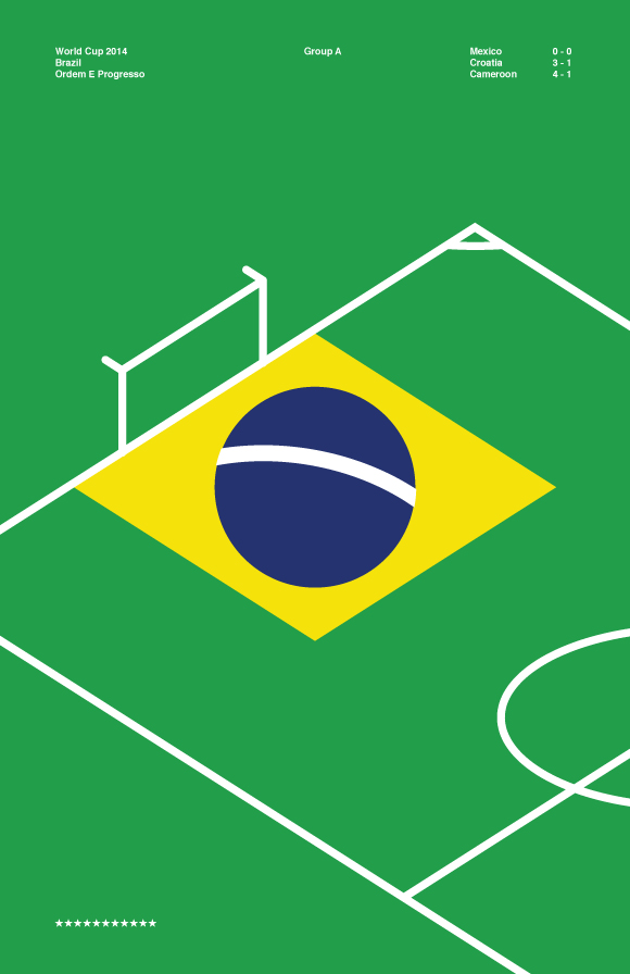 Free printable poster - Brazil World Cup 2014 - Full